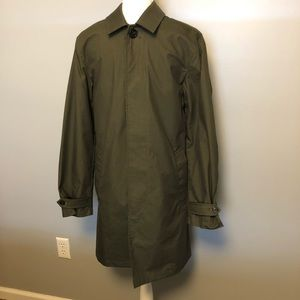 NWT Jack Spade Olive Green Trench Coat Size XS